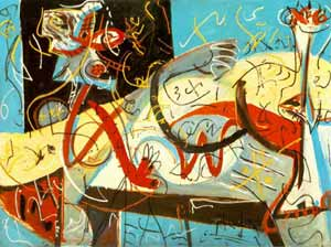 Jackson Pollock's Abstract Expressionism